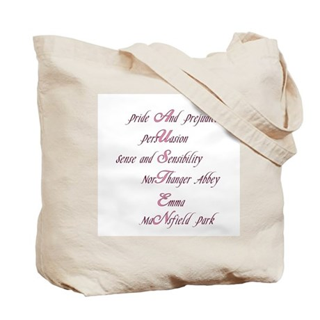 Jane Austen two-sided Tote Bag