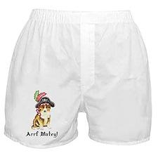 Sheltie Pirate Boxer Shorts