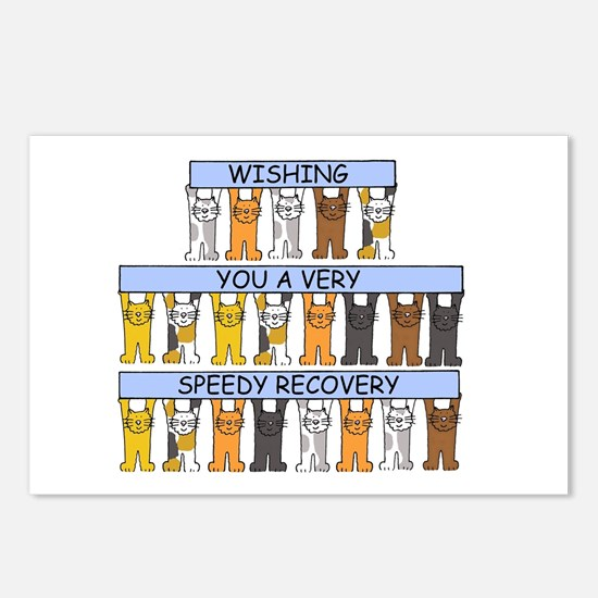 Speedy recovery cartoon c Postcards (Package of 8)