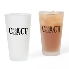 Volleyball Coach Drinking Glass