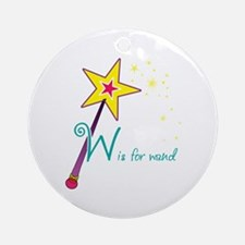 W is for wand Ornament (Round)