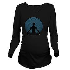 Namaste-slate-blu Long Sleeve Maternity T-Shirt