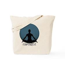 Namaste-slate-blu Tote Bag
