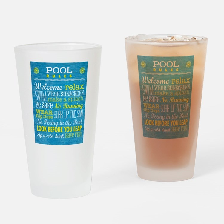 Rules for the Pool Drinking Glass