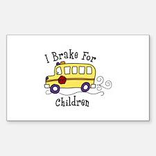 I Brake For Children Decal