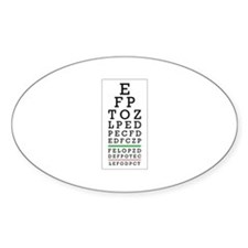 Eye Chart Decal