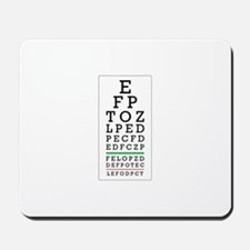 Eye Chart Mousepad