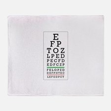 Eye Chart Throw Blanket