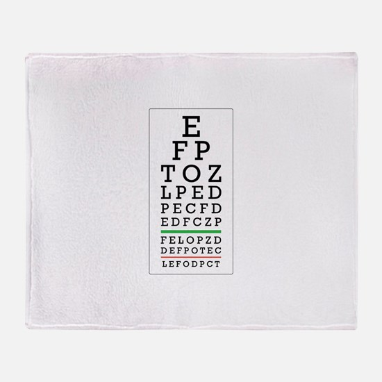 Eye Chart Throw Blanket