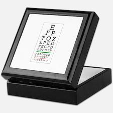 Eye Chart Keepsake Box