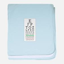 Eye Chart baby blanket