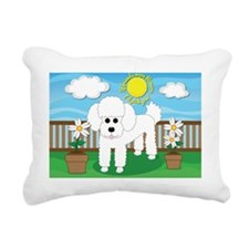 Unique Whimsical poodle Rectangular Canvas Pillow