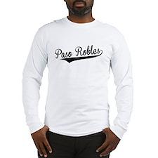 Paso Robles, Retro, Long Sleeve T-Shirt