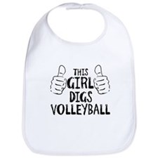 This Girl...Digs Volleyball Bib