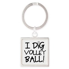 I Dig Volleyball Keychains
