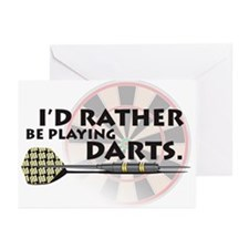 I'd rather be playing darts! Greeting Cards (Packa