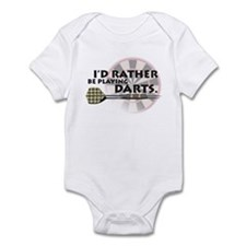 I'd rather be playing darts! Infant Bodysuit