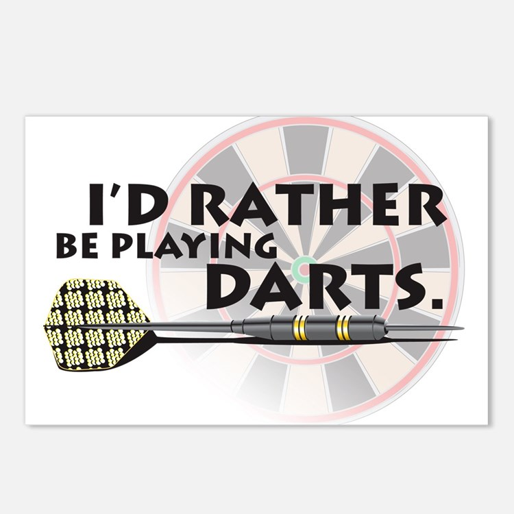 I'd rather be playing darts! Postcards (Package of
