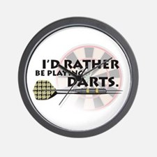 I'd rather be playing darts! Wall Clock
