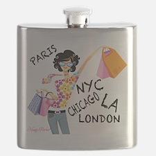 Cute Paris shopping Flask