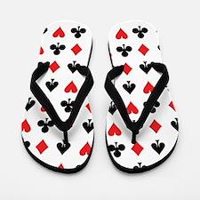 Card Suits Flip Flops