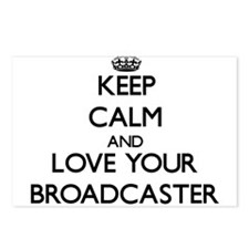 Keep Calm and Love your Broadcaster Postcards (Pac