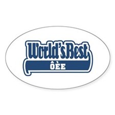 WB Dad [Slovenian] Oval Decal
