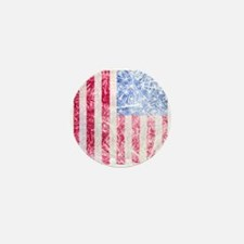 4th of July - American Firework Flag Mini Button