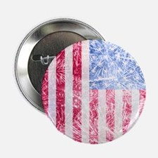 """4th of July - American Firework Flag 2.25"""" Button"""
