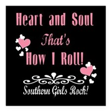 """Southern Girls Square Car Magnet 3"""" x 3"""""""