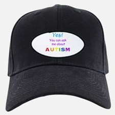 Ask Me About Autism! Baseball Hat