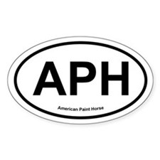 APH Paint Horse oval Decal