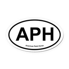 APH Paint Horse oval Oval Car Magnet