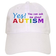 Ask Me About Autism! Baseball Cap