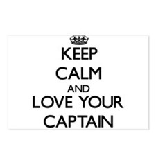 Keep Calm and Love your Captain Postcards (Package