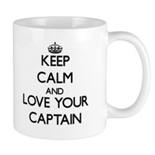 Keep Calm and Love your Captain Mugs