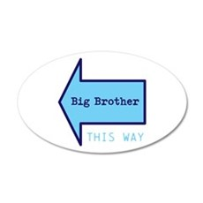 Big Brother THIS WAY Wall Decal Sticker