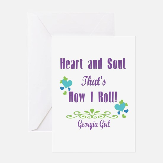 Georgia Girl Greeting Card