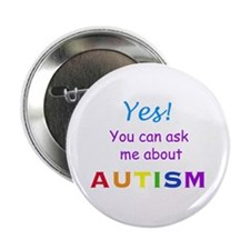 Ask Me About Autism! Button