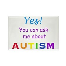 Ask Me About Autism! Rectangle Magnet