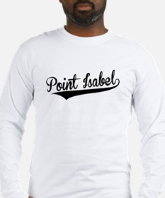 Point Isabel, Retro, Long Sleeve T-Shirt