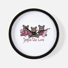 Triple The Love Wall Clock