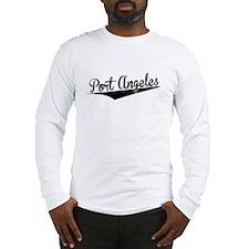 Port Angeles, Retro, Long Sleeve T-Shirt
