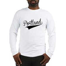 Portland, Retro, Long Sleeve T-Shirt