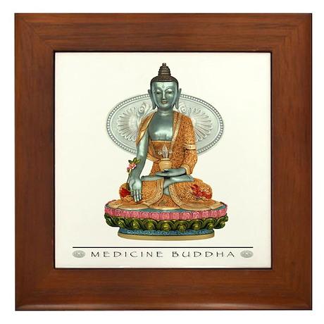 Medicine Buddha Framed Tile
