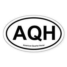 AQH Quarter Horse oval Decal