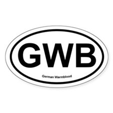 GWB German Warmblood oval Decal