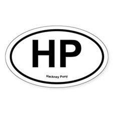 HP Hackney Pony oval Decal