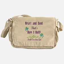 North Carolina Girl Messenger Bag