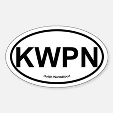 KWPN Dutch Warmblood oval Stickers